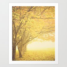 Gold season Art Print