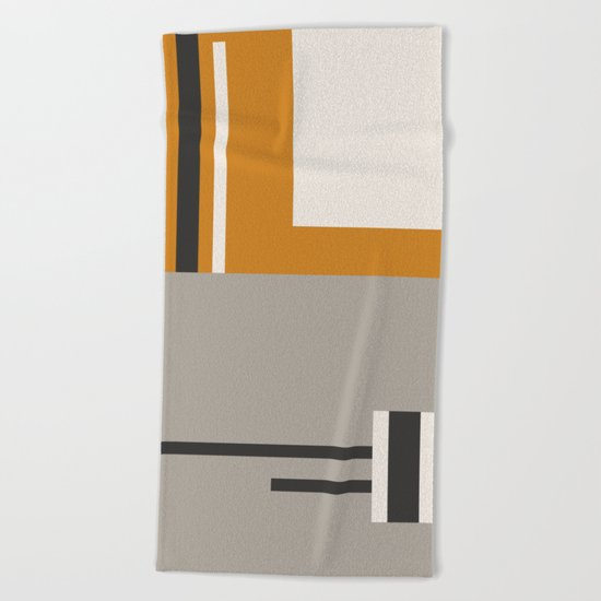PLUGGED INTO LIFE (abstract geometric) Beach Towel