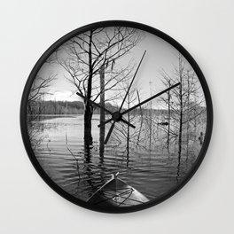 Kayaking Dead Lakes Wall Clock