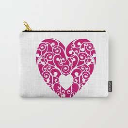 A pink Heart Carry-All Pouch