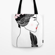Cherry Blossom Girl. Tote Bag