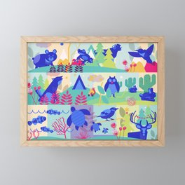 colorHIVE animals Framed Mini Art Print