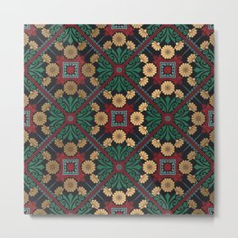 Decorative Indian Mandala Pattern Metal Print