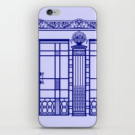 ART DECO, ART NOUVEAU IRONWORK: French Blue iPhone Skin