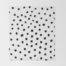 Painted Dots Throw Blanket