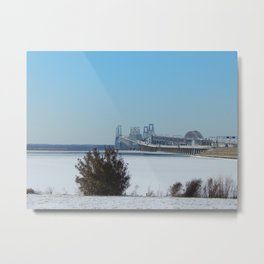 Winter at Bay Bridge Metal Print