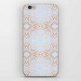 artisan: unbroken chain (in periwinkle & copper) iPhone Skin