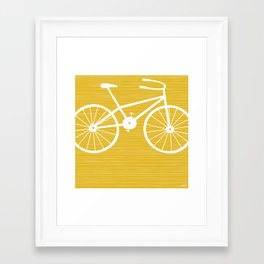 Yellow Bike by Friztin Framed Art Print