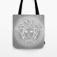 versace Tote Bags featuring Versace Grey by  Can Encin