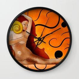 Aspenissia V1 - violinhair Wall Clock