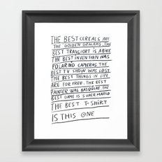 The best title is this one Framed Art Print