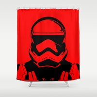 trooper Shower Curtains featuring Trooper  by Rabassa