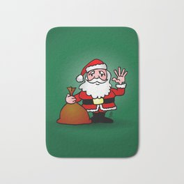 Santa Claus waving Bath Mat