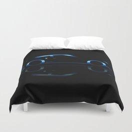 Blue Flash Fast Car Duvet Cover