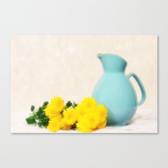The Yellow Mums Canvas Print