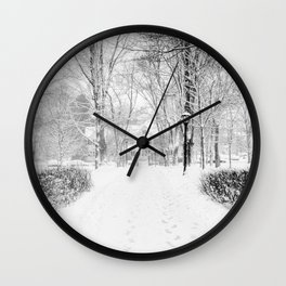Wandering through Winter Wall Clock