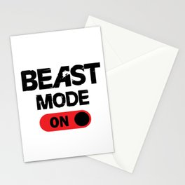 Beast mode ON. Stationery Cards