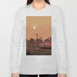 Mist sunset and a train Long Sleeve T-shirt