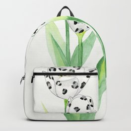 Wild Flowers - Snow Leopard Backpack