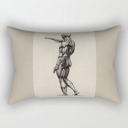 Flayed man, Écorché, Louvre Rectangular Pillow