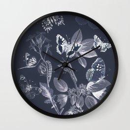 Vintage Butterflies and Moths Remix Wall Clock