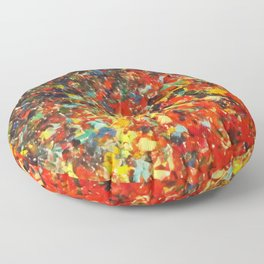 END OF THE RAINBOW - Bold Multicolor Abstract Colorful Nature Inspired Sunrise Sunset Ocean Theme Floor Pillow