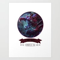 league of legends Art Prints featuring League Of Legends - Cho'gat by TheDrawingDuo