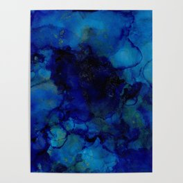 NEW Alcohol Ink Deep Blue Trip I Poster