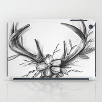 antlers iPad Cases featuring Antlers by Robyn Marshall