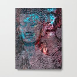 Prayers blueglow Metal Print