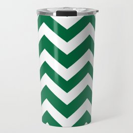 Cadmium green - green color -  Zigzag Chevron Pattern Travel Mug