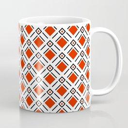 Red Diamond Golf Pattern Coffee Mug