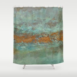 Blue Green Worlds Shower Curtain
