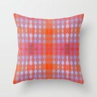 wallpaper Throw Pillows featuring Wallpaper by Kaos and Kookies