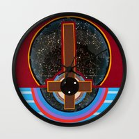 flag Wall Clocks featuring Flag by Canson City