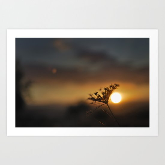 The end of the day Art Print
