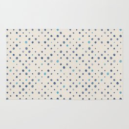 LOTS OF DOTS / linen beige / indigo blue / blue grey / cerulean Rug