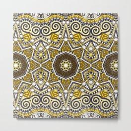 Indian Mhendi Pattern Metal Print