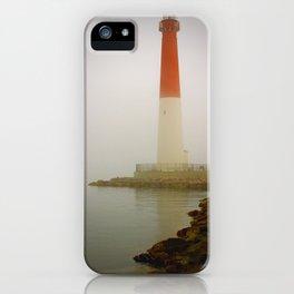 Barnegat Lighthouse on a Foggy Day iPhone Case