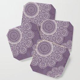Mandala Tulips in Lavender ad Cream Coaster