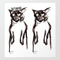 Ghost Cats White Hoodie Design Art Print