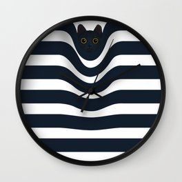 Cat's Out of the Bag Wall Clock
