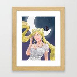Moonlight vanity Framed Art Print