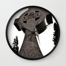 Celtic Cross Claddagh Wall Clock