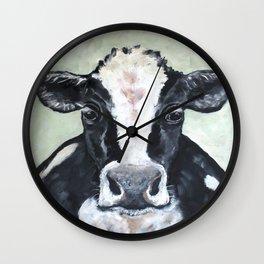 Holstein Cow Wall Clock