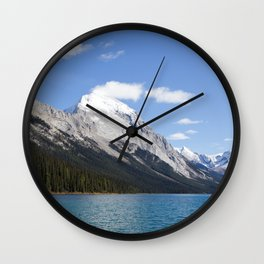 Mountains of Maligne Lake 5 Wall Clock