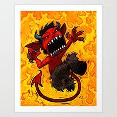 El Diablo Pequeno  Art Print