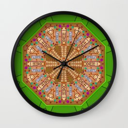 sweet crackers with chocolate mandala Wall Clock