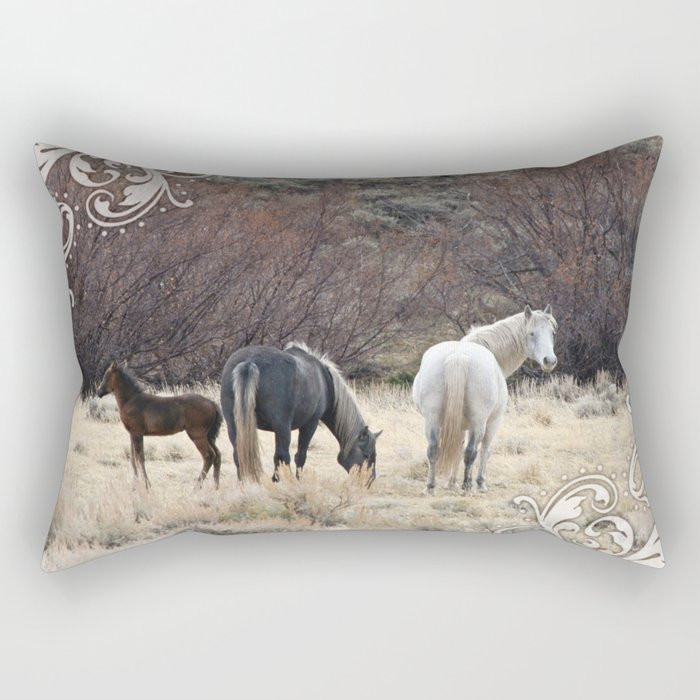 Family of Three Rectangular Pillow