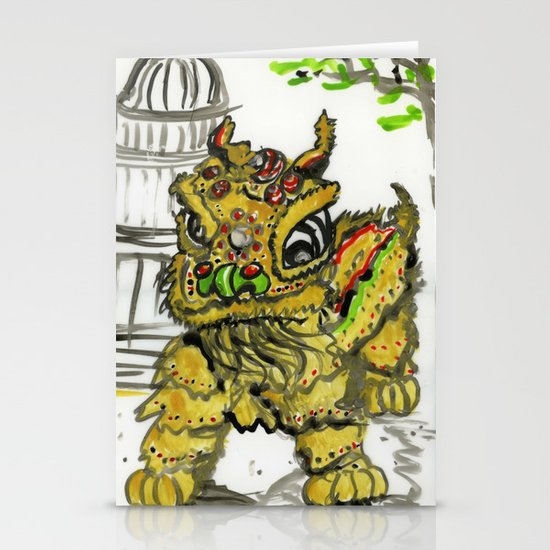 Lion Dance  Stationery Cards